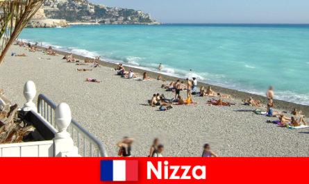 法国里维埃拉美丽的海滩