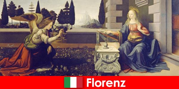 游客了解佛罗伦萨对视觉艺术的文化意义
