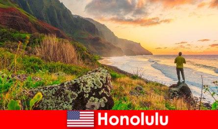 火奴鲁鲁以海滩、大海、日落而闻名,适合健康和休闲度假