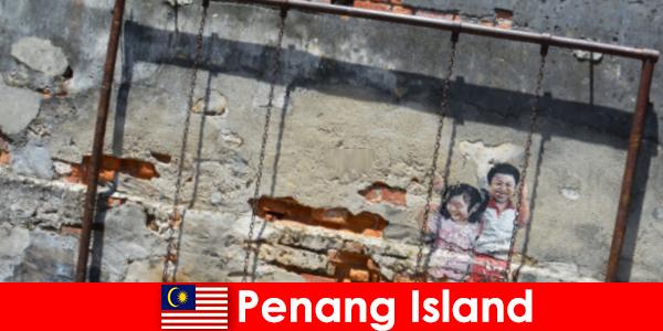 槟城岛迷人多样的街头艺术让陌生人惊叹不已