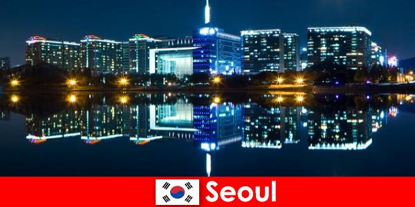 韩国首尔是一个迷人的城市,展示传统与现代