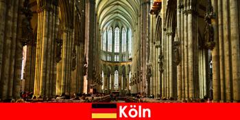 在科隆大教堂为陌生人朝圣三圣王
