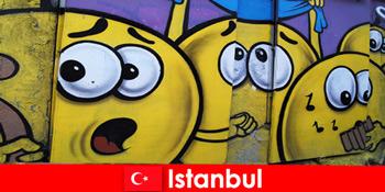 土耳其伊斯坦布尔的现场俱乐部为来自世界各地的嬉皮士和艺术家作为周末之旅