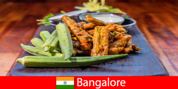印度班加罗尔为游客提供当地美食和购物体验的美味佳肴