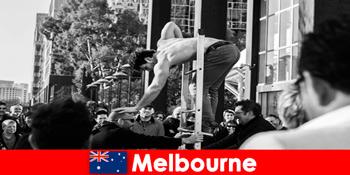 澳大利亚墨尔本创意度假者的艺术和文化