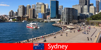 澳大利亚悉尼市的全景,供来自世界各地的游客观看