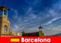 西班牙巴塞罗那考古遗址等待热情的历史游客